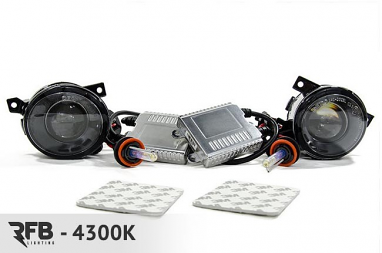 RFB MK5 HID Projector Fog Light Conversion Kit - 4300K (Pure White)