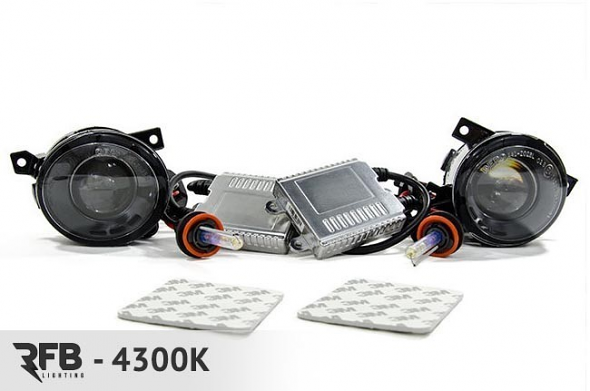 RFB HID Projector Fog Light Conversion Kit - 4300K (Pure White) For MK5
