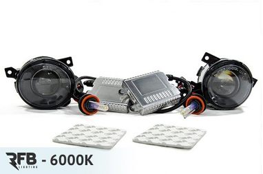 RFB MK5 HID Projector Fog Light Conversion Kit - 6000K (Diamond White)
