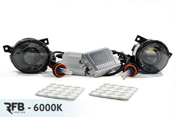 RFB HID Projector Fog Light Conversion Kit - 6000K (Diamond White) For MK5