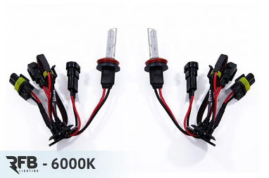 RFB H11 Replacement HID Bulb Pair - 6000K (Diamond White)