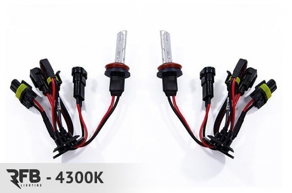 RFB H3 Replacement HID Bulb Pair - 4300K (Pure White)