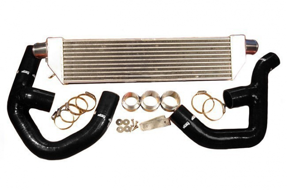 """Forge Front Mount """"Twintercooler"""" Kit Black Hoses For 2.0T"""
