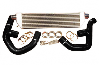 "Forge Front Mount ""Twintercooler"" Kit Black Hoses For Mk6 2.0T"