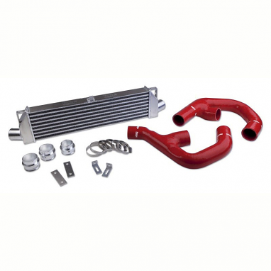 "Forge Front Mount ""Twintercooler"" Kit Red Hoses For VW Passat/CC"