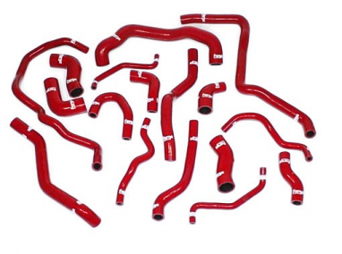 Forge Silicone Coolant Hose Kit Red For MK6 Golf R