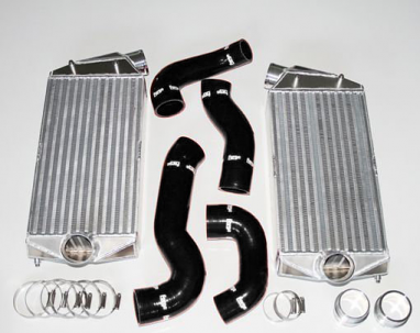 Forge Intercooler Kit Porsche Hoses Black For 996TT