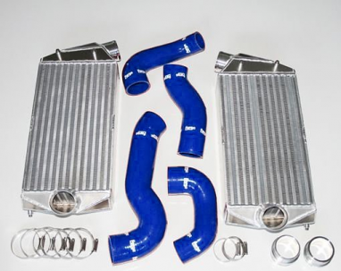 Forge Intercooler Kit Porsche Hoses Blue For 996TT
