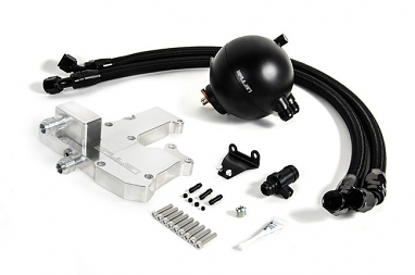 Spulen Billet Spherical Catch Can Kit Black V2 For B8 A4 and A5 2.0TSI