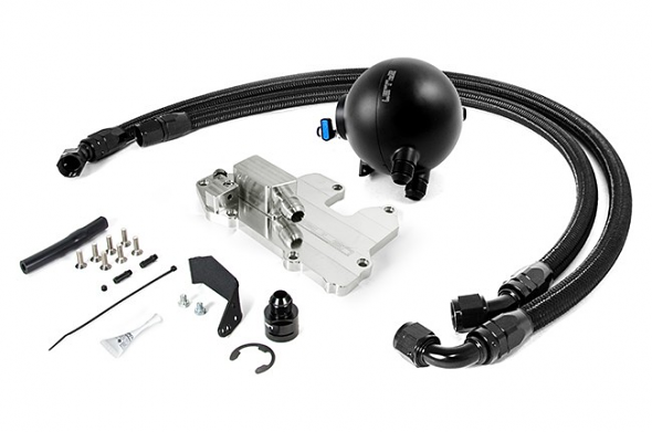 Spulen Billet Spherical Catch Can Kit V2 Black For 1.8T and 2.0TSI