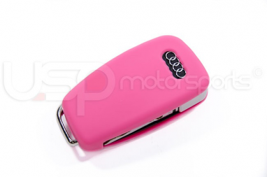 Silicone Key Fob Jelly (Audi Models)- Pink