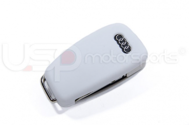 Silicone Key Fob Jelly (Audi Models)- White