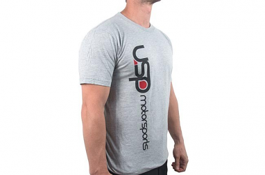 USP Motorsports Gray Logo T-Shirt- Medium