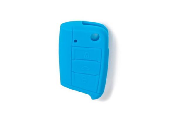 Silicone Key Fob Jelly Blue For MK7