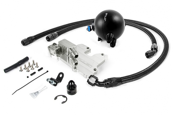 Spulen Billet Spherical Catch Can Kit V2 Black For 1.8T and 2.0TSI Jetta
