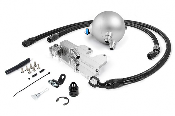 Spulen Billet Spherical Catch Can Kit V2 Silver For 1.8T and 2.0TSI Jetta