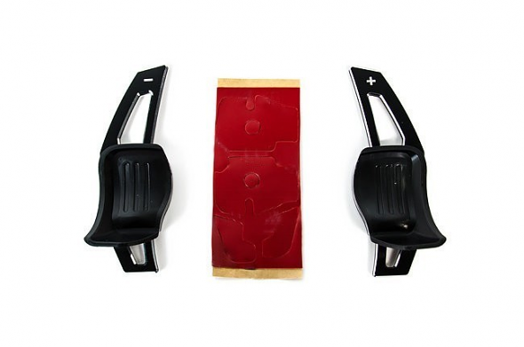 Black Aluminum DSG Paddle Extensions For Volkswagen Vehicles