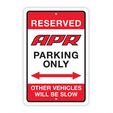 APR Parking Sign