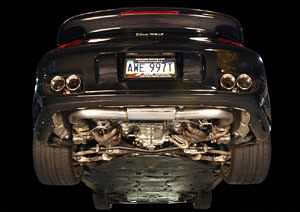 AWE Tuning Performance Muffler with 200 Cell Cats For 997TT