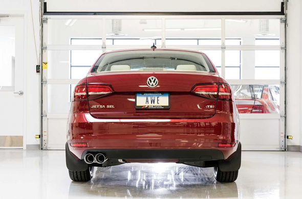 AWE Tuning Touring Edition Exhaust with Chrome Silver Tips (90mm) For VW MK6 Jetta 1.8T