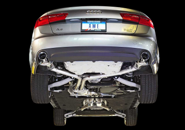 AWE Tuning Audi C7 A6 3.0T Touring Edition Exhaust - Dual Outlet, Chrome Silver Tips