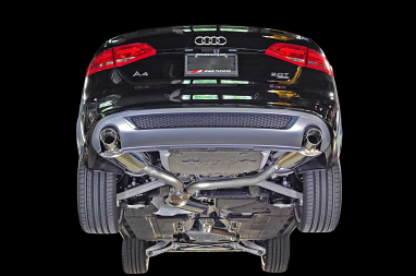 AWE Tuning A4 Touring Edition Exhaust - Dual Outlet, Diamond Black Tips