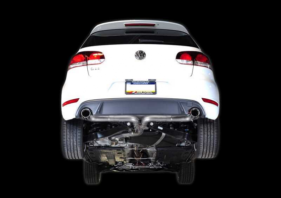 AWE Tuning GTI Performance Catback Exhaust System - Diamond Black Round Tips For Mk6