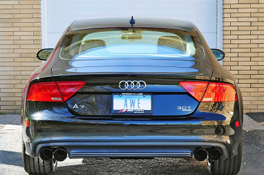 AWE Tuning Audi C7 A7 3.0T Touring Edition Exhaust - Quad Outlet, Chrome Silver Tips