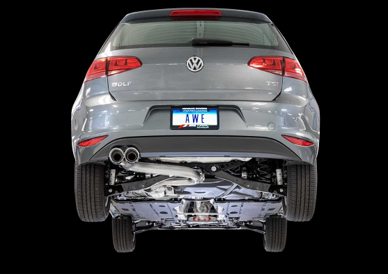 AWE Tuning VW MK7 Golf 1.8T Track Edition Exhaust with Diamond Black Tips (90mm)