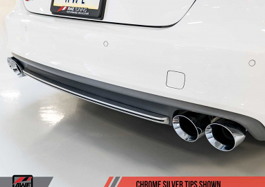 AWE Tuning Audi S7 4.0T Track Edition Exhaust - Chrome Silver Tips