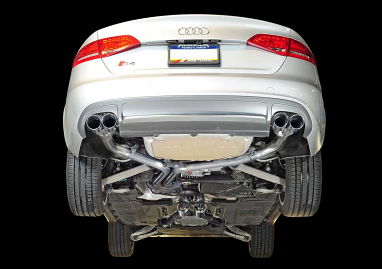 AWE Tuning Track Edition Exhaust - Diamond Black Tips (102mm) For Audi S4 3.0T
