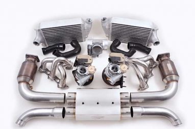 AWE Tuning Turbo Package - with muffler, exchange turbos For 750R
