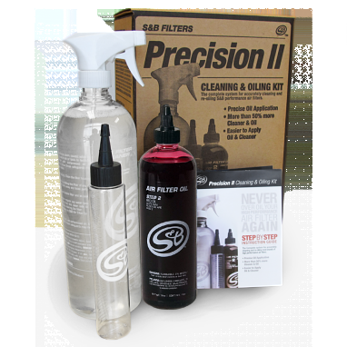 S&B Precision II: Filter Cleaning & Oil Kit (Red Oil)
