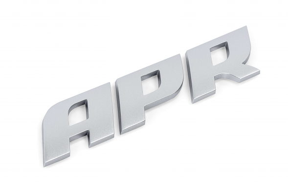APR Dome Badge - Matte Silver