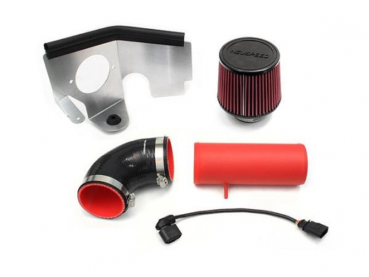NEUSPEED P-Flo Air Intake Kit for Audi & VW TDI - Red w/Oiled Filter