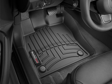 WeatherTech FloorLiner Front Row Set (Black) - For MK7 GTI/Golf/R