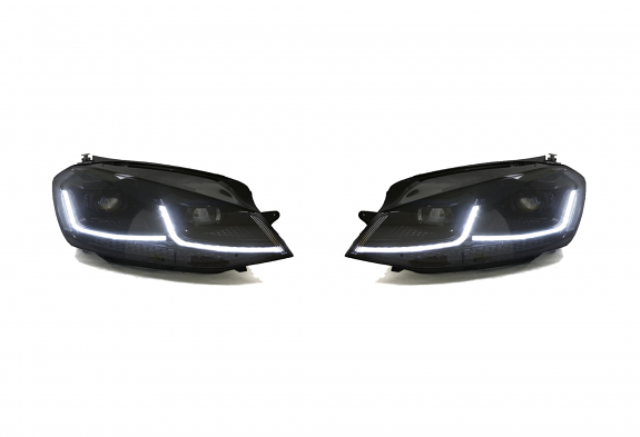 RFB MK7.5 Style Projector Headlights For VW MK7 GTI/Golf - Black Trim