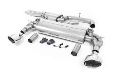 Milltek Resonated Catback Exhaust for Audi RS3 (8V) - Polished Oval Tips