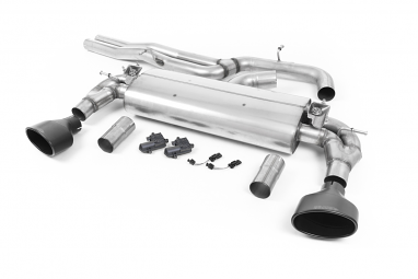 Milltek Non-Resonated Catback Exhaust for Audi RS3 (8V) - Black Oval Tips