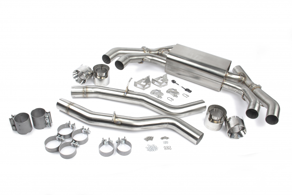 Dinan Free Flow Axle Back Exhaust For BMW F97 X3M & F98 X4M - Polished Tips