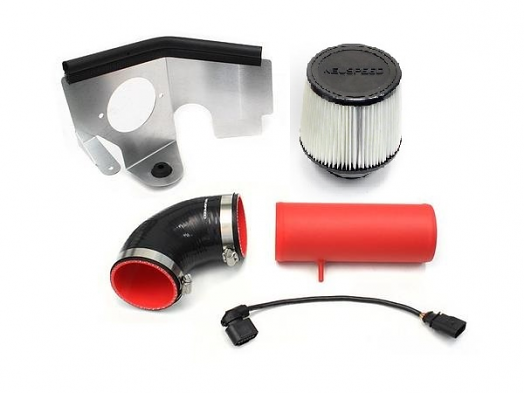 NEUSPEED P-Flo Air Intake Kit for Audi & VW TDI - Red w/Dry Filter