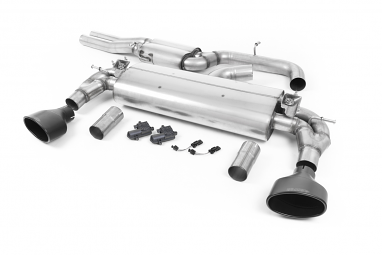 Milltek Resonated Catback Exhaust for Audi RS3 (8V) - Black Oval Tips