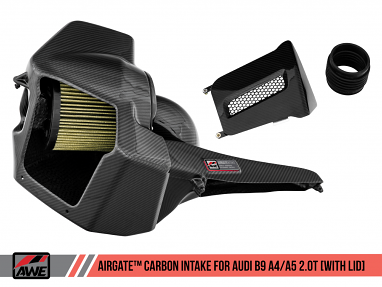 AWE AirGate™ Carbon Fiber Intake For Audi B9 A4 / A5 2.0T - With Lid