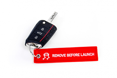"USP Motorsports ""Remove Before Launch"" Key Chain"