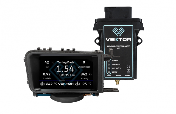 Vektor Technik Digital Data Display Gauge For VW MK7 GTI & Golf R (Antenna) RHD