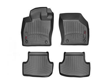 WeatherTech FloorLiner Front & Rear Kit (Black) - For MK7 GTI/Golf/R