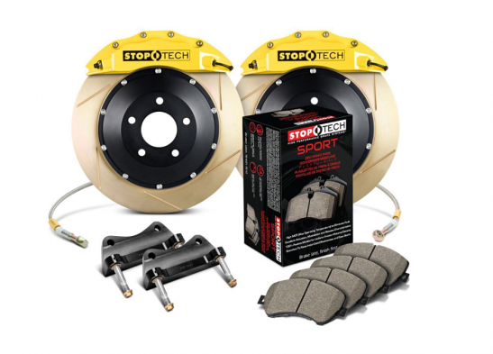 StopTech Performance Slotted 2-Piece Front Big Brake Kit (ST-60) - Yellow