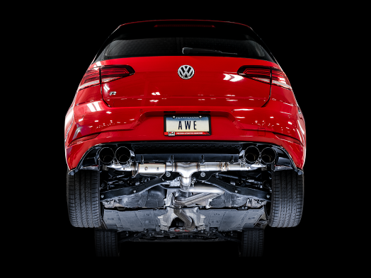 AWE SwitchPath Exhaust For MK7.5 Golf R - Diamond Black 102mm Tips