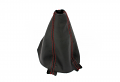 BFI B6/B7 Manual Shift Boot - Leather, Red Stitching