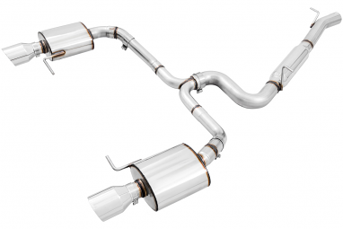AWE Track Edition Exhaust for VW Golf Alltrack / Sportwagen 4Motion - Chrome Silver Tips